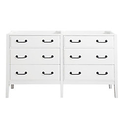 Avanity Delano 60-inch  Double Vanity Cabinet in White
