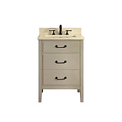 Avanity Delano 25 Inch Vanity Combo In Taupe Glaze Finish With Galala Beige Top