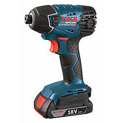 18V Li-Ion Cordless 1/4-inch Quick Change Hex Impact Driver with 2 SlimPack Batteries & Charger