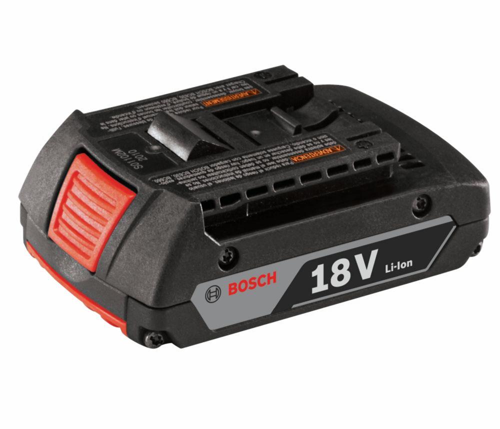 Bosch 18 V Li-Ion 2.0 Ah Slim Pack Battery (Clamshell)