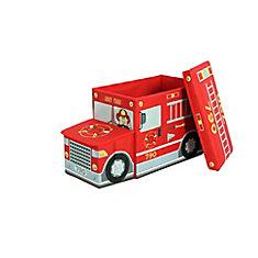 Collapsible Children's Storage Ottoman, Fire Truck