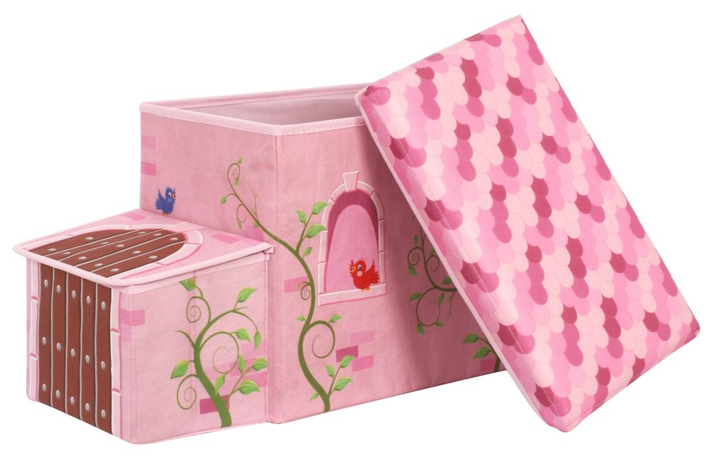 Greenway Collapsible Children's Storage Ottoman, Princess Castle