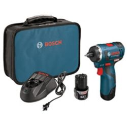 Bosch 12V Max EC Cordless Li-Ion Brushless Two-Speed Pocket Driver with 2 Batteries