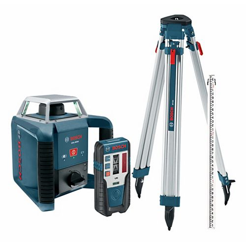 Complete Rotary Laser Level Kit with Tripod