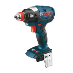 Bosch 18 V EC Brushless Socket-Ready Impact Driver with Both 1/4 Inch Hex and 1/2 Inch Square Drives