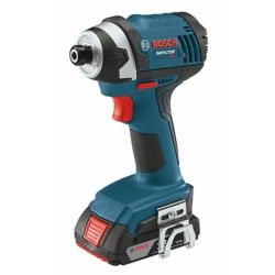 Bosch 18 V 1/4 Inch Hex Compact Tough Impact Driver with 2 SlimPack Batteries