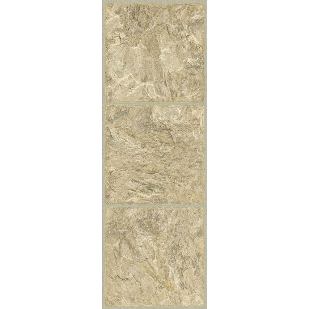 12-inch x 36-inch Luxury Vinyl Tile Flooring in Gold (24 sq. ft./case)