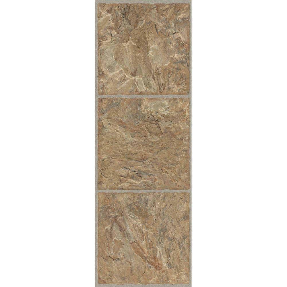 12-inch x 36-inch Luxury Vinyl Tile Flooring in Red Rock (24 sq. ft./case)