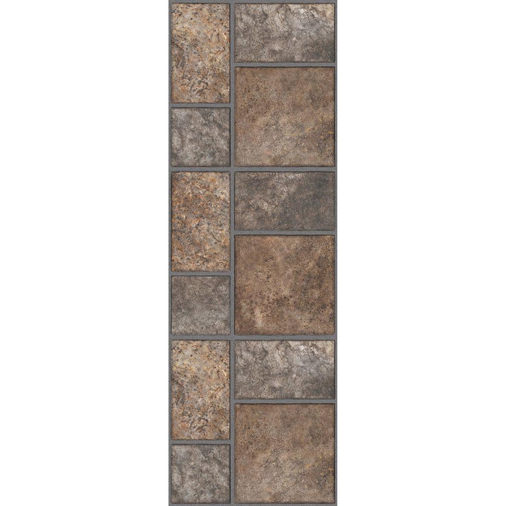 12-inch x 36-inch Luxury Vinyl Tile Flooring in Yukon Brown (24 sq. ft./case)
