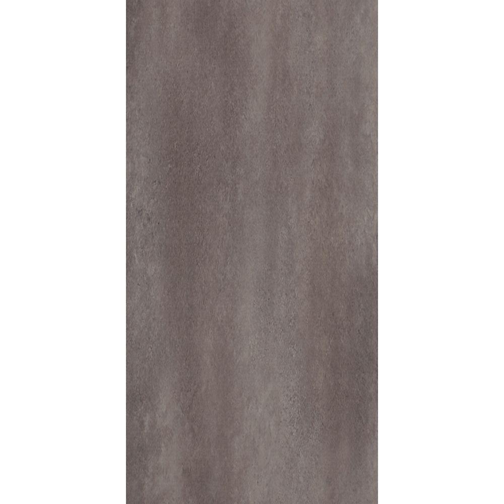 12-inch x 24-inch Groutable Ceramica Vinyl Floor Tile in Coastal Grey (29 sq. ft./case)