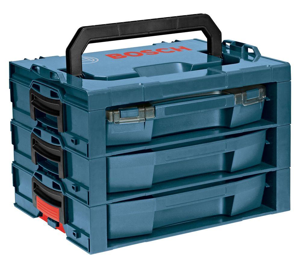 Système détagère de rangement avec tiroirs et poignée de transport