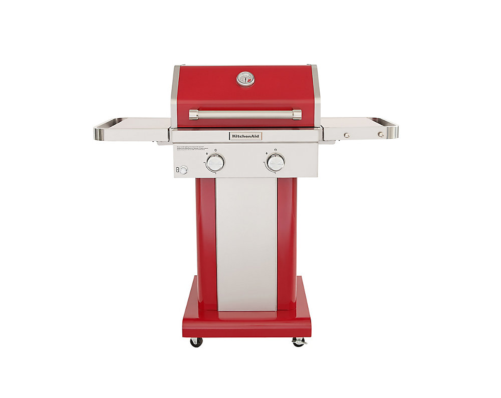 Kitchenaid 2 Burner Outdoor Gas Bbq In Red The Home