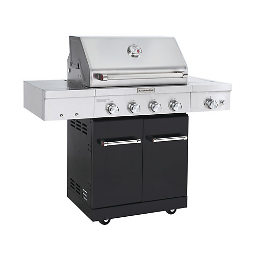 4-Burner Propane BBQ in Stainless Steel with Ceramic Infrared Sear-Burner