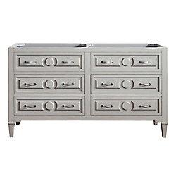 Avanity Kelly 60-Inch  Double Vanity Cabinet in Greyish Blue