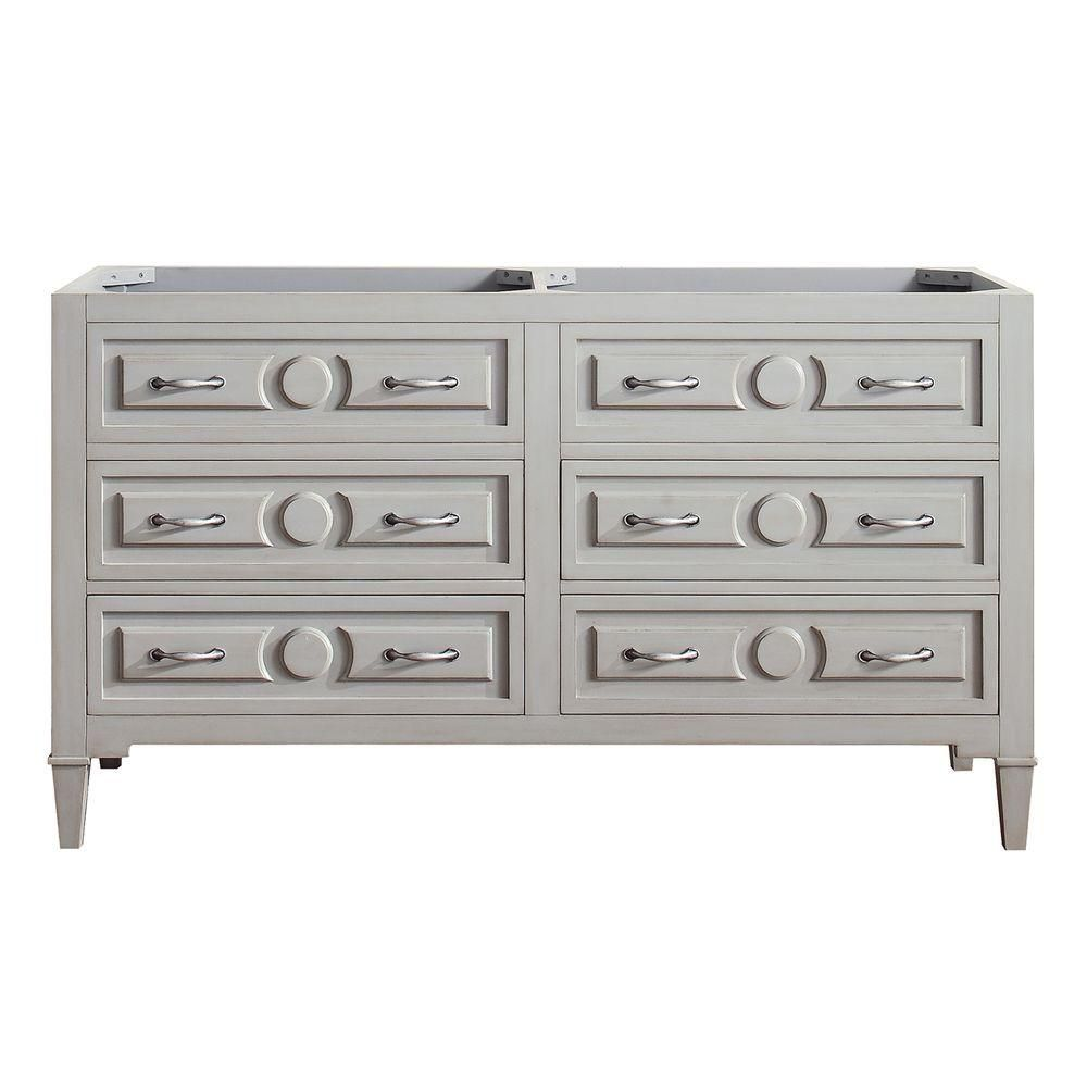 Avanity Kelly 60-Inch  Double Vanity Cabinet in Greyish Blue