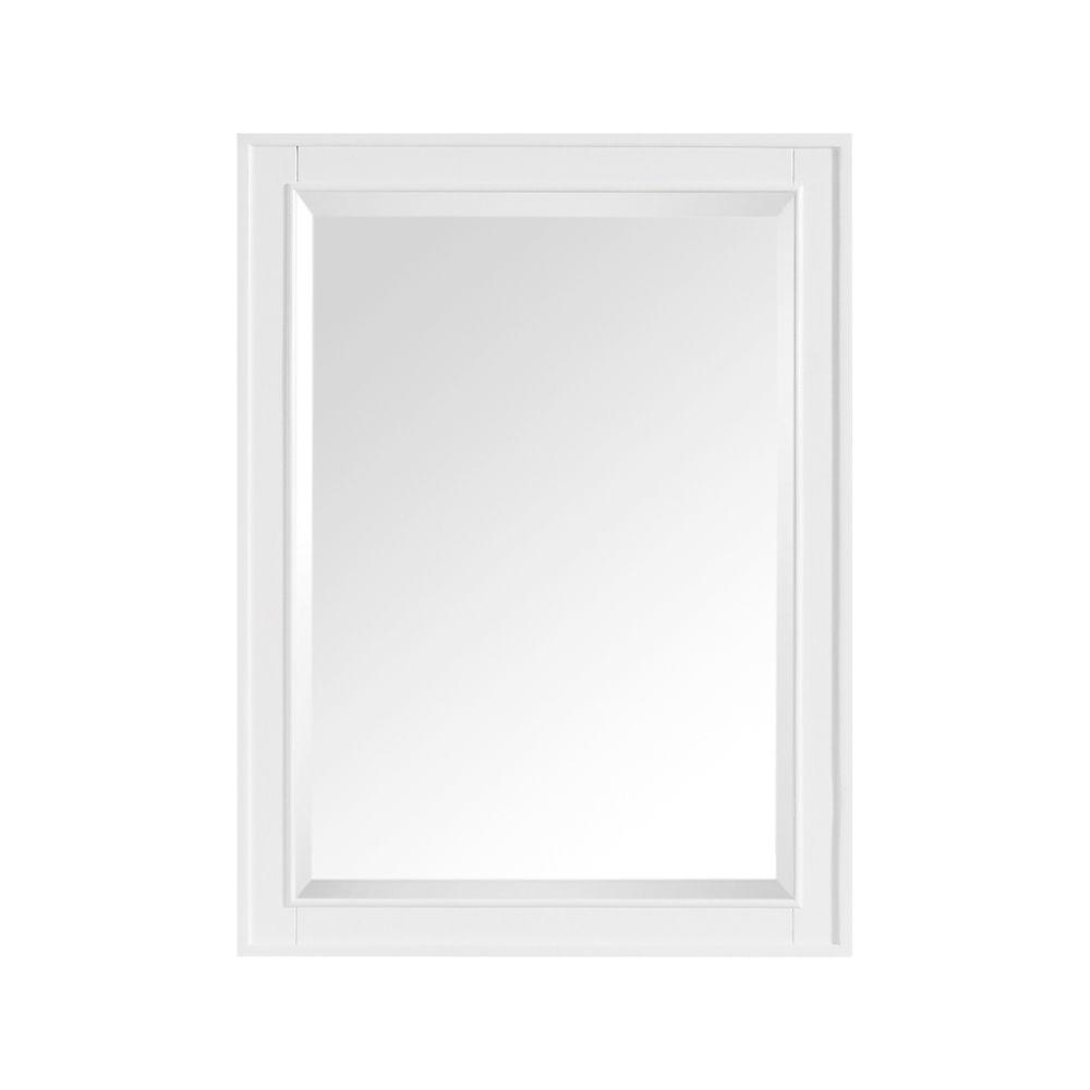 Madison 24 Inch Mirror In White Finish