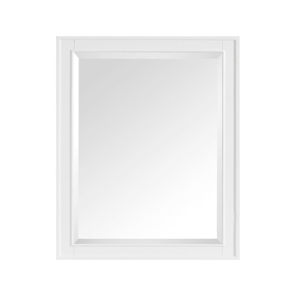 Madison 28 Inch Mirror In White Finish