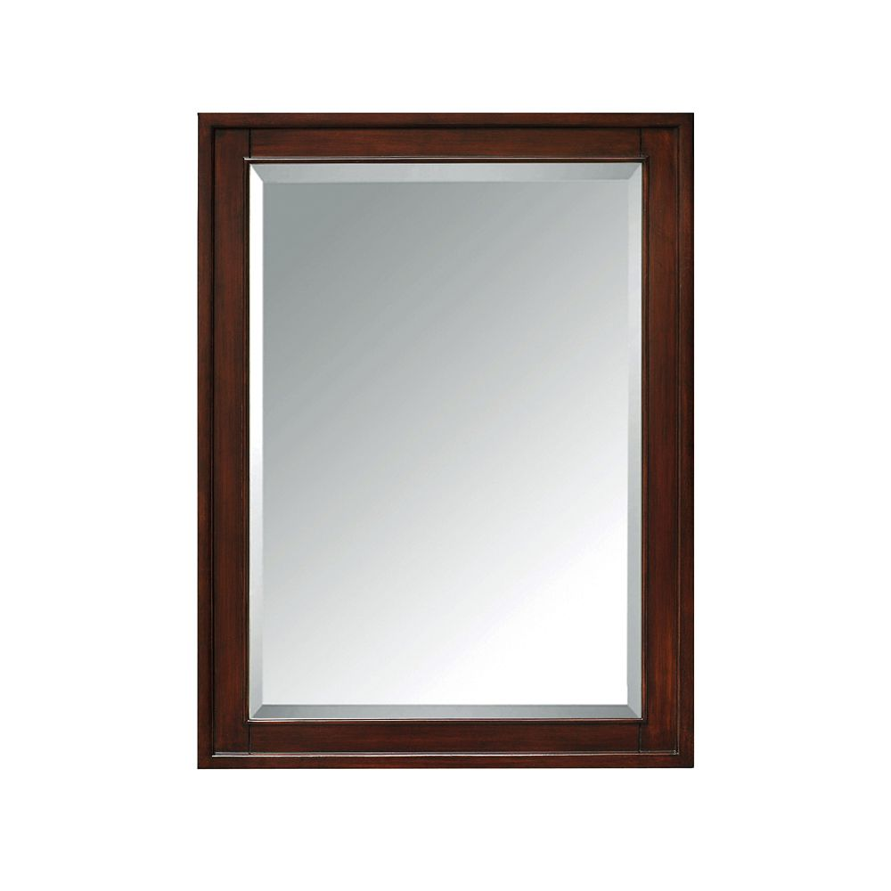 Madison 24 Inch Mirror Cabinet In Light Espresso Finish