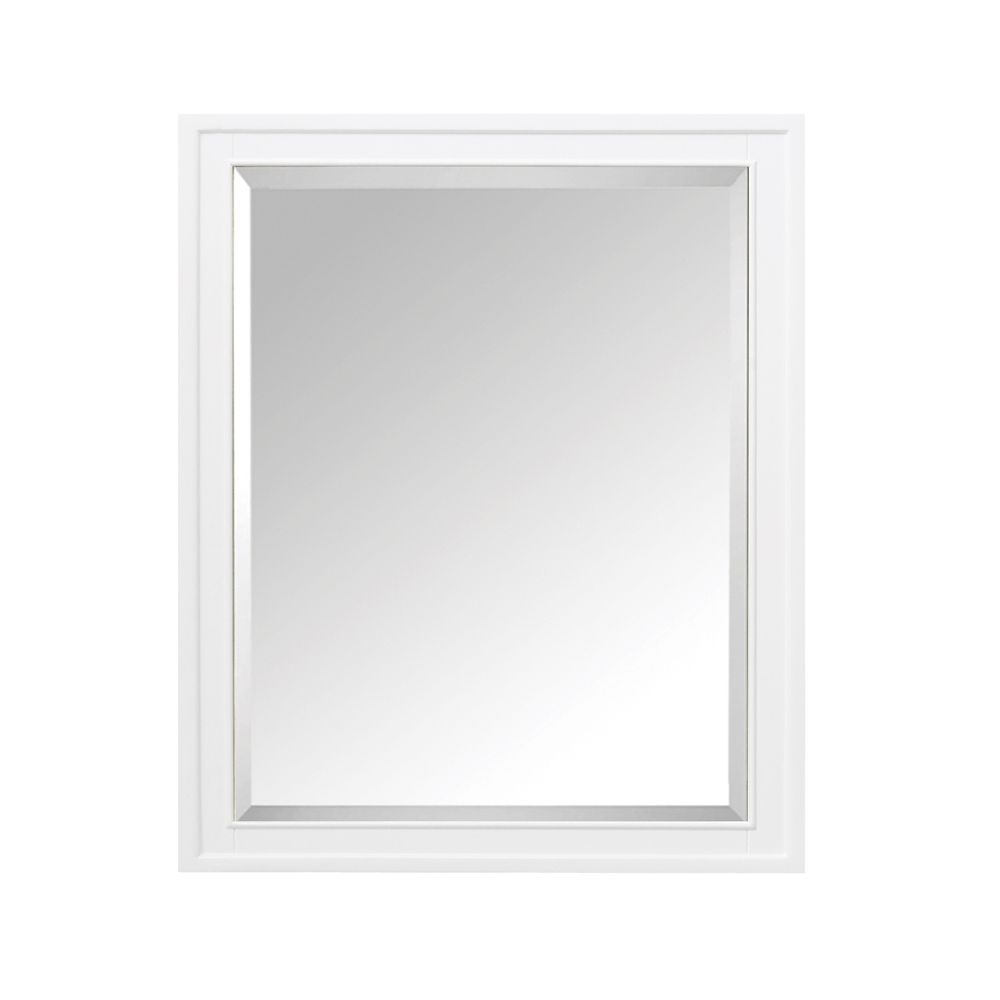 Madison 28 Inch Mirror Cabinet In White Finish