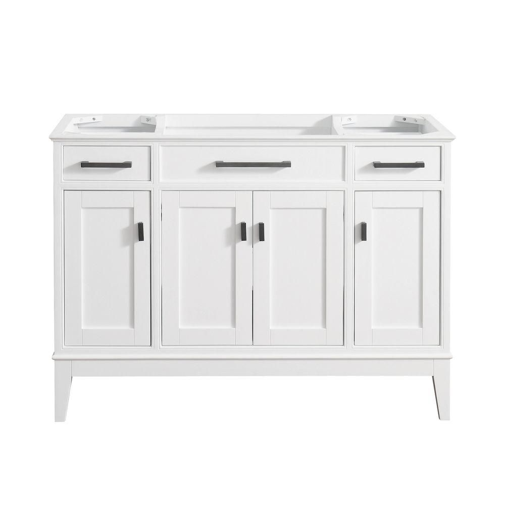 Madison 48-Inch  Vanity Cabinet in White