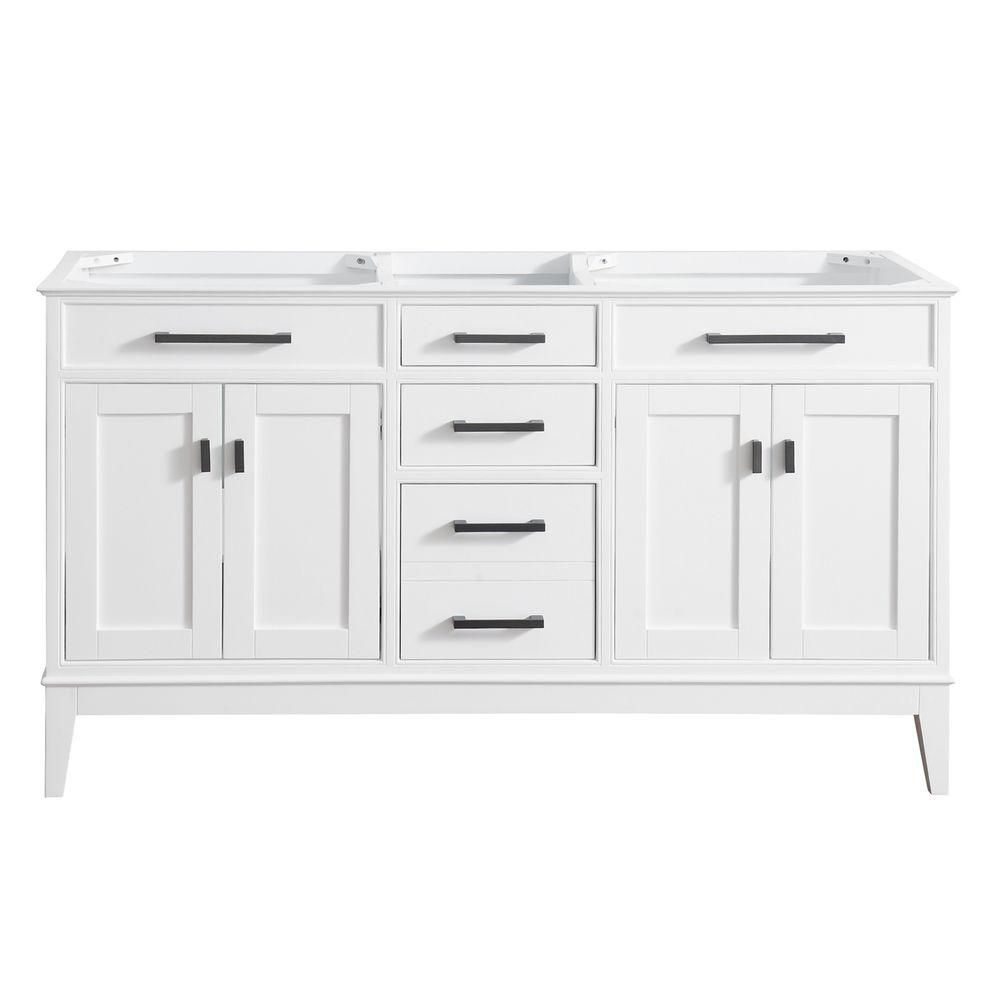 Madison 60-Inch  Double Vanity Cabinet in White