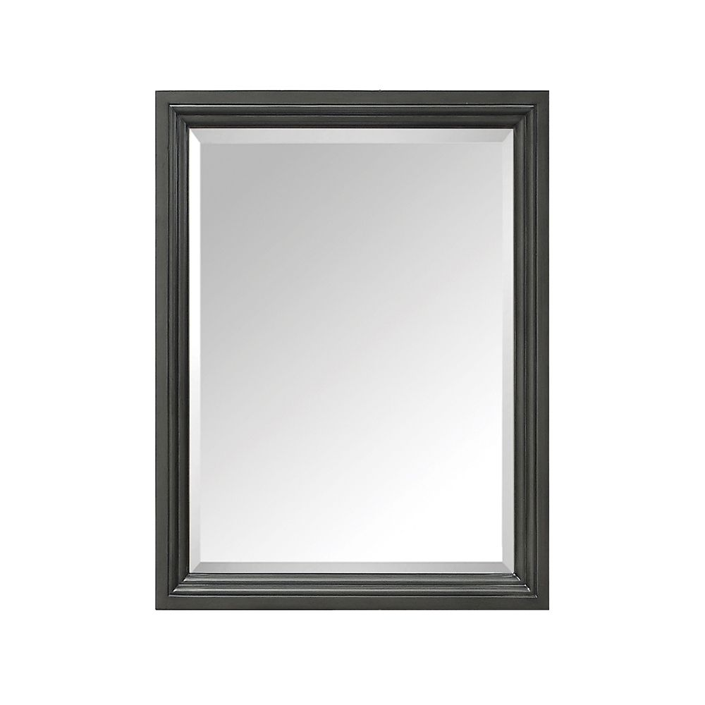 Thompson 24 Inch Mirror In Charcoal Glaze Finish
