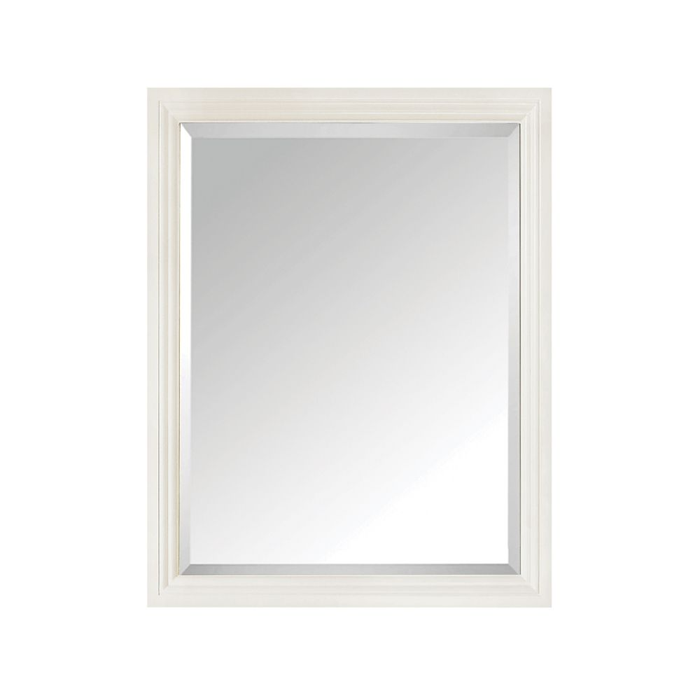 Avanity Thompson 24-inch W x 30-inch H Single Framed Mirror in French White