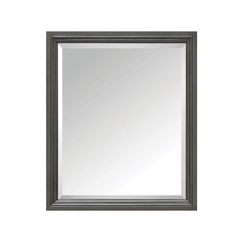 Avanity Thompson 28-inch W x 33-inch H Single Framed Mirror in Charcoal Glaze