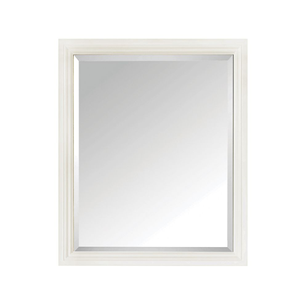Thompson 28 Inch Mirror In French White Finish