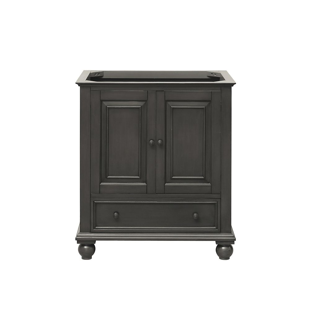 Thompson 30-Inch  Vanity Cabinet in Charcoal Glaze