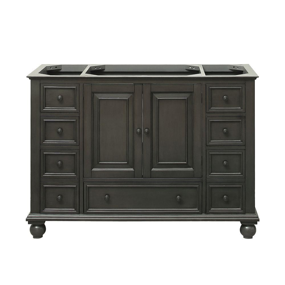 Thompson 48-Inch  Vanity Cabinet in Charcoal Glaze