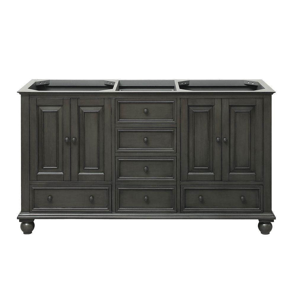 Thompson 60-Inch  Double Vanity Cabinet in Charcoal Glaze