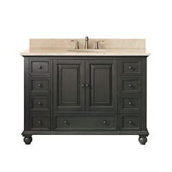 Avanity Thompson 49 Inch Vanity Combo In Charcoal Glaze Finish With Galala Beige Top