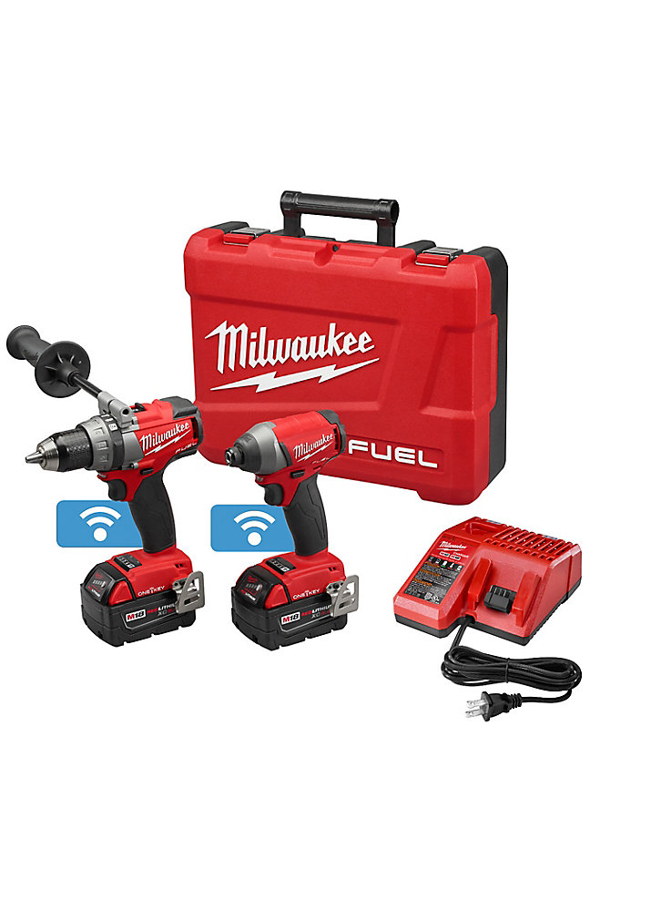 M18 FUEL with ONE-KEY 18V Lithium Ion Cordless Drill and Hex Impact Driver Combo Kit (2-Tool)