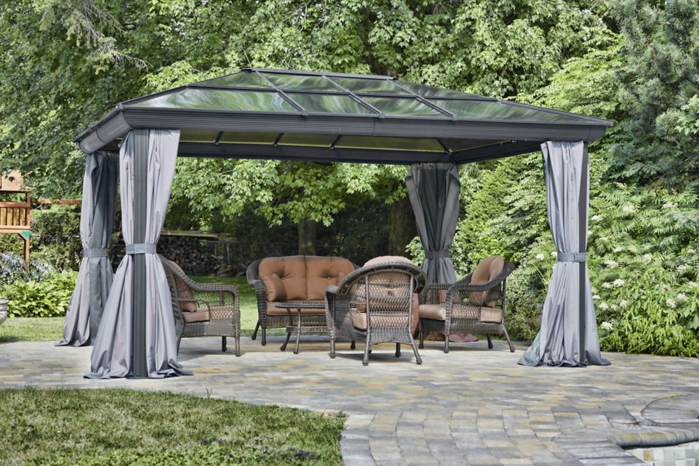 10 Feet. X 14 Feet. All Season Gazebo