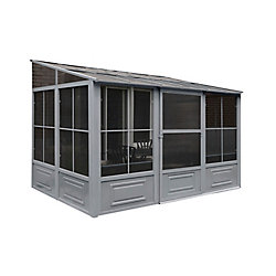 Gazebo Penguin 8 ft. x12 ft. Add-a-Room in Grey