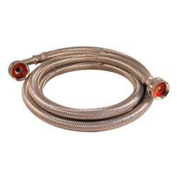 Aqua-Dynamic Flex Connector Ss 3/4i Hose X 3/4i Hose W/Elbow 72i Wash Machine Lead Free