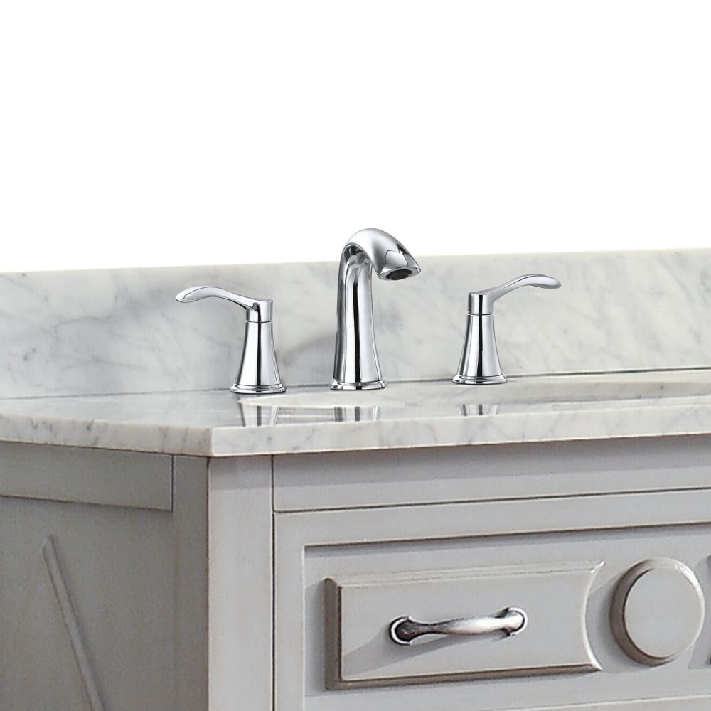 Mizuchi 8-inch Widespread 2-Handle Bathroom Faucet in Chrome Finish