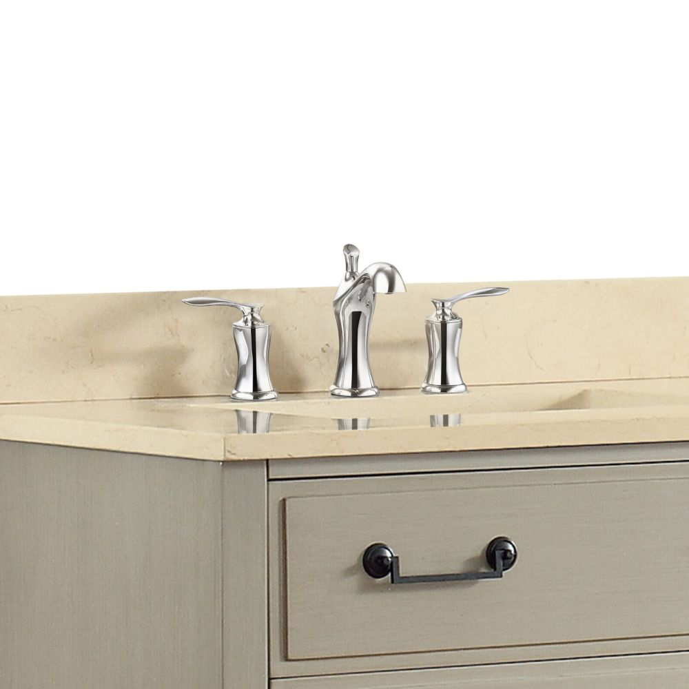 Fontaine 8-inch Widespread 2-Handle Bathroom Faucet in Chrome Finish