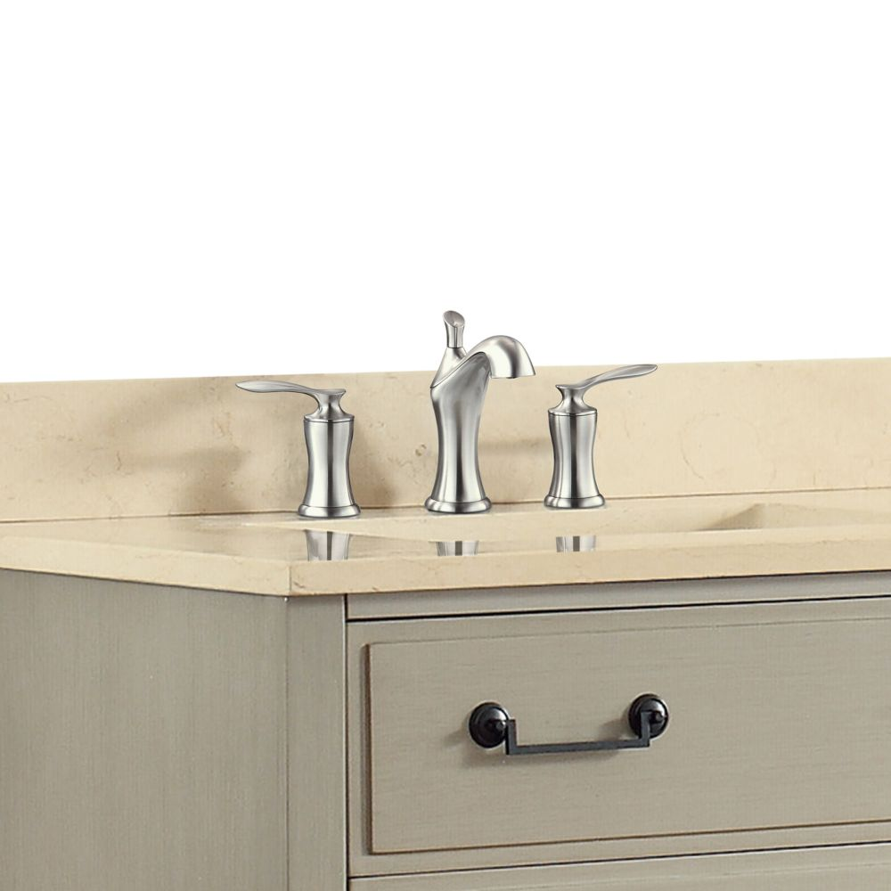 Fontaine 8-inch Widespread 2-Handle Bathroom Faucet in Brushed Nickel Finish