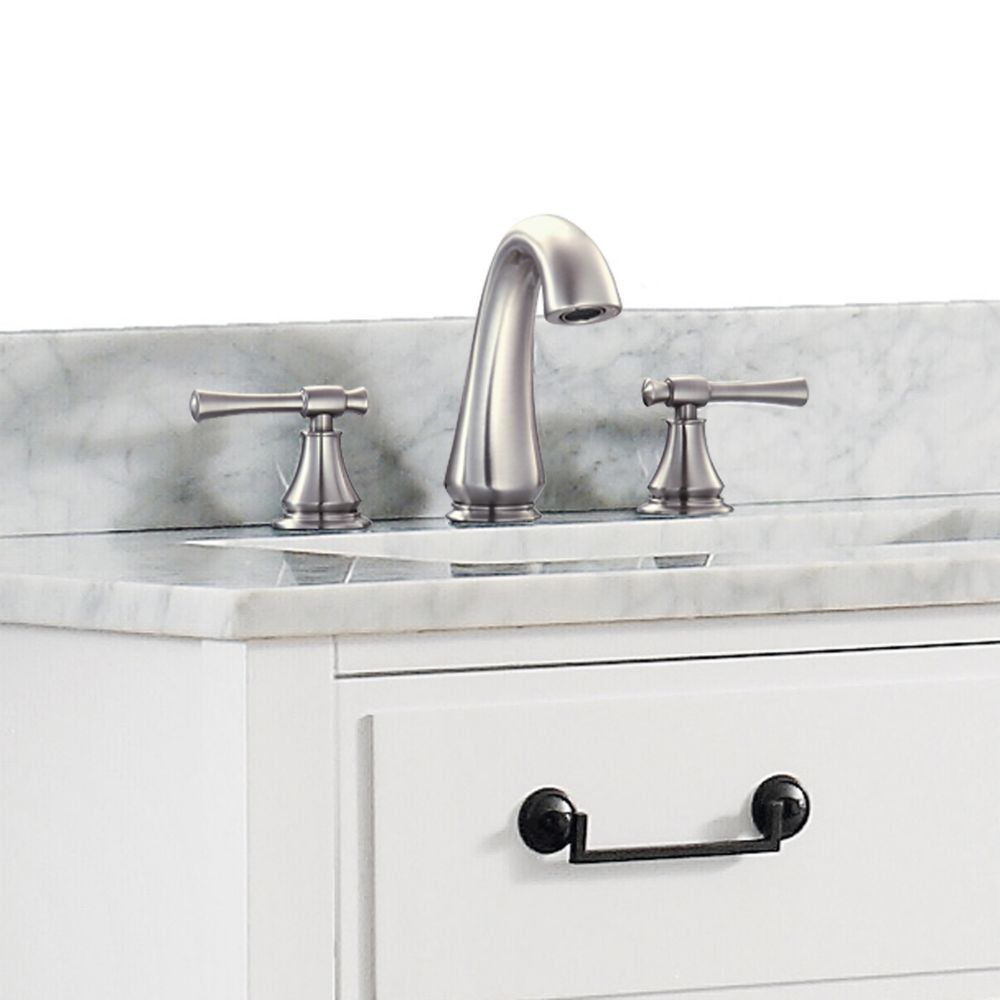 Avanity triton 8 inch widespread 2 handle bathroom faucet - 8 inch brushed nickel bathroom faucet ...
