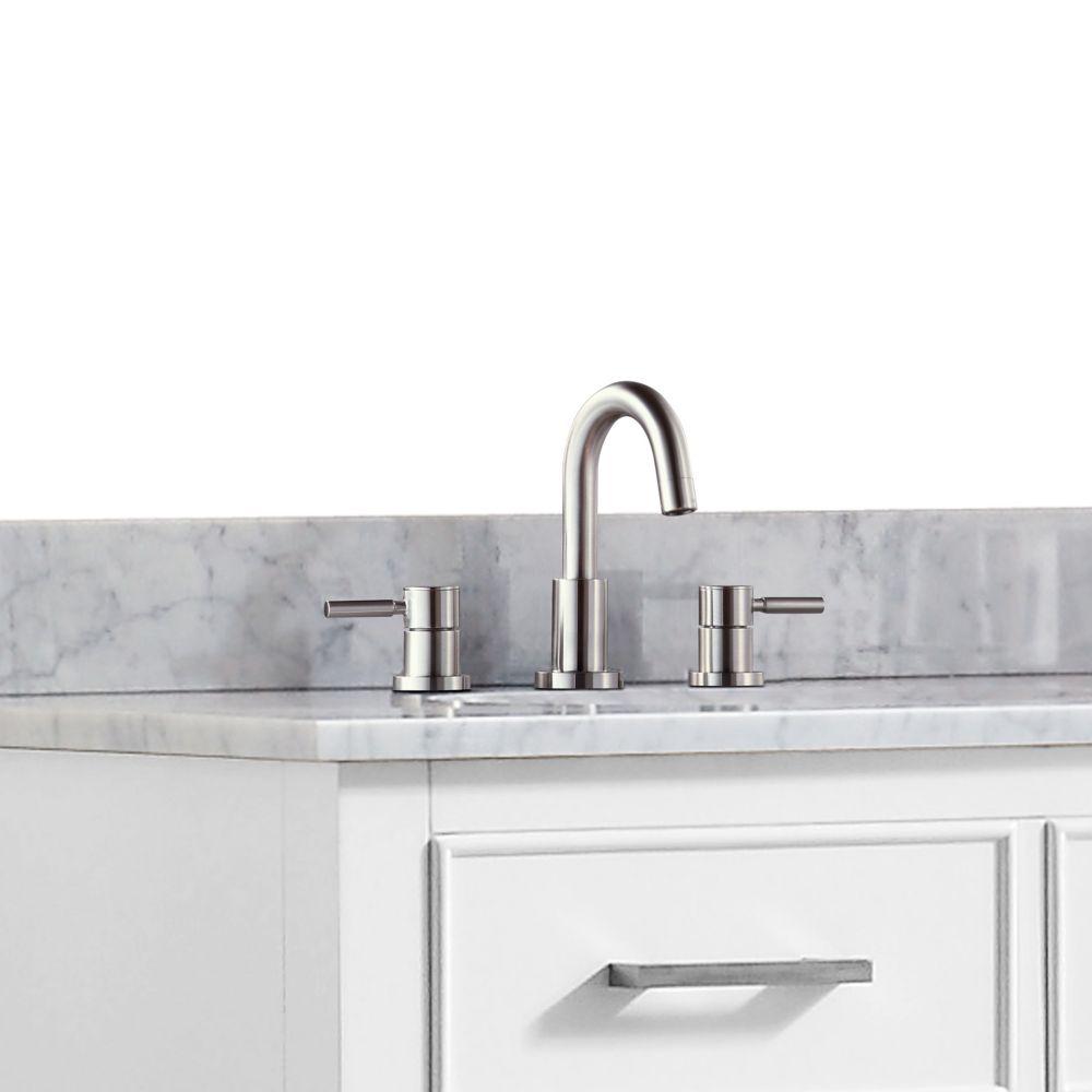 Positano 8-inch Widespread 2-Handle Bathroom Faucet in Brushed Nickel Finish
