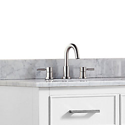 Avanity Positano 8-inch Widespread 2-Handle Bathroom Faucet in Brushed Nickel Finish