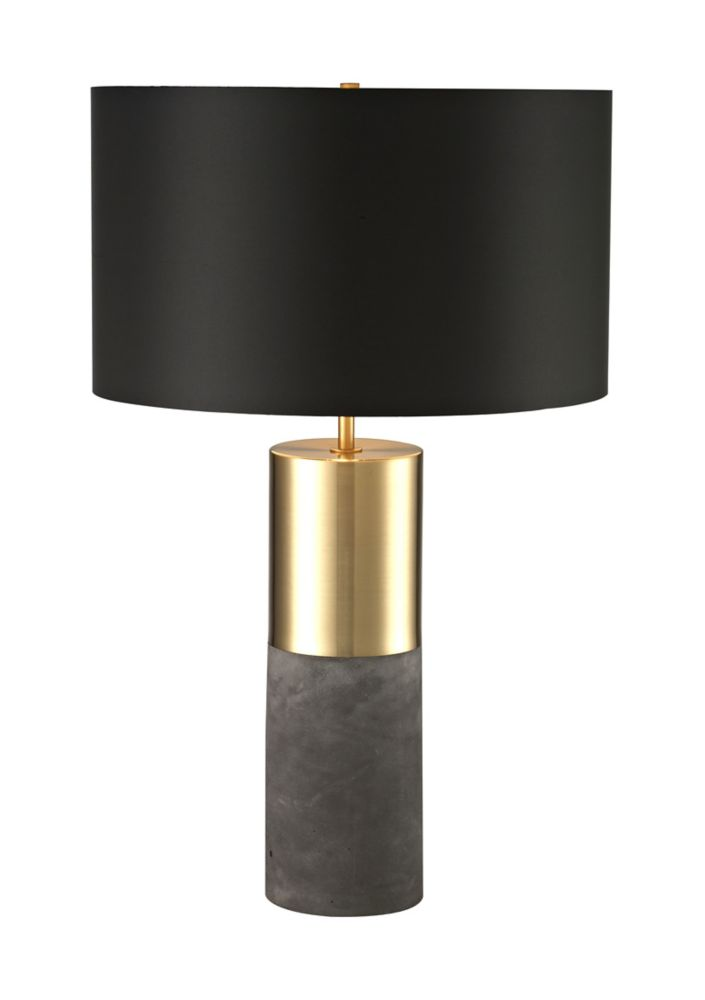 24 Inch  Antique  Gold  Cement Base Table Lamp