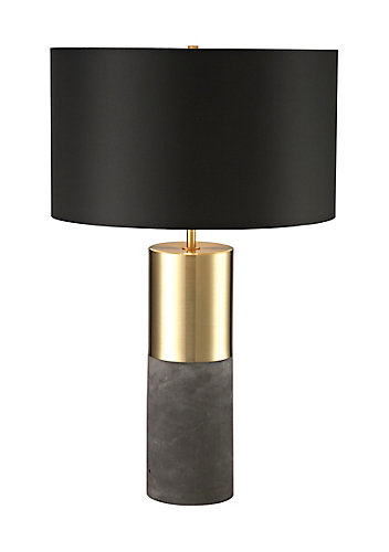L2 lighting 24 inch antique gold cement base table lamp the home 24 inch antique gold cement base table lamp aloadofball Image collections