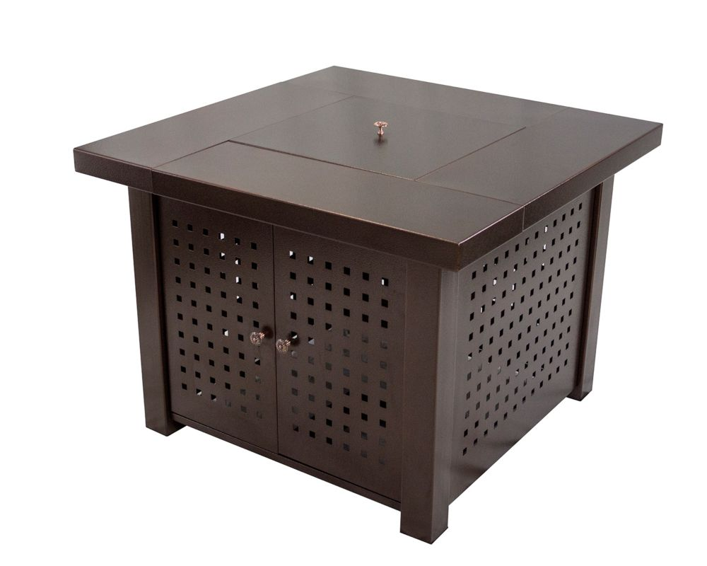 paramount round outdoor propane fire pit table the home depot canada. Black Bedroom Furniture Sets. Home Design Ideas