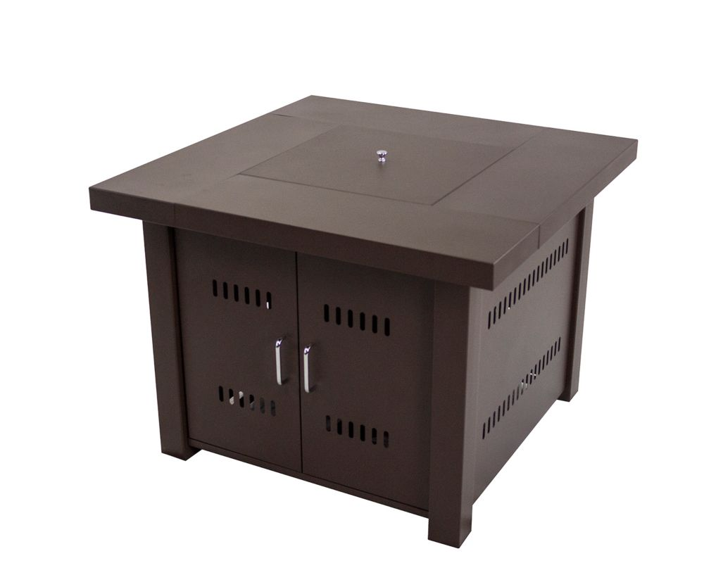 Table-foyer carrée au gaz de 38po Avalon OFG900T Pleasant Hearth