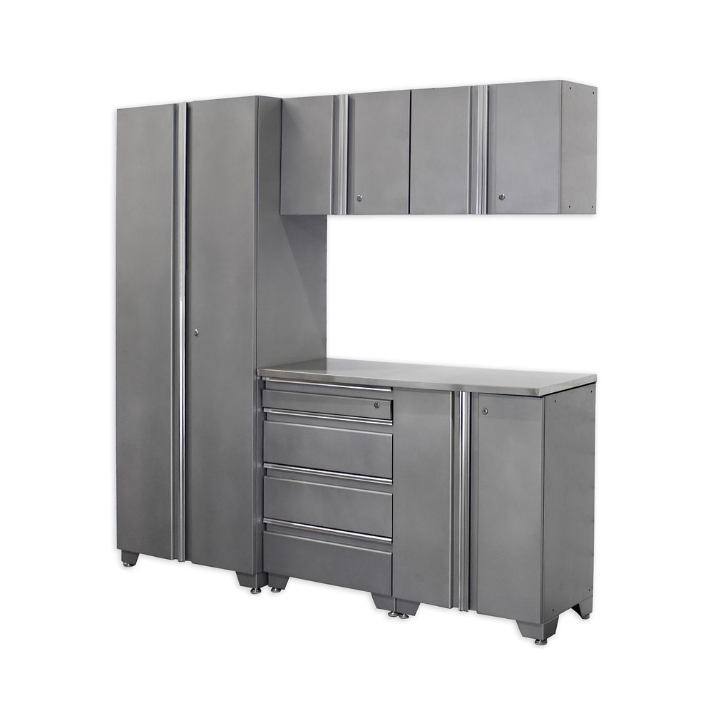 Classic Series Cabinets Silver 6 Piece
