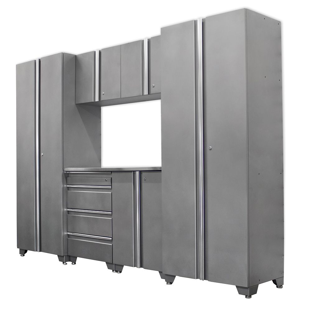 Classic Series Cabinets Silver 7 Piece
