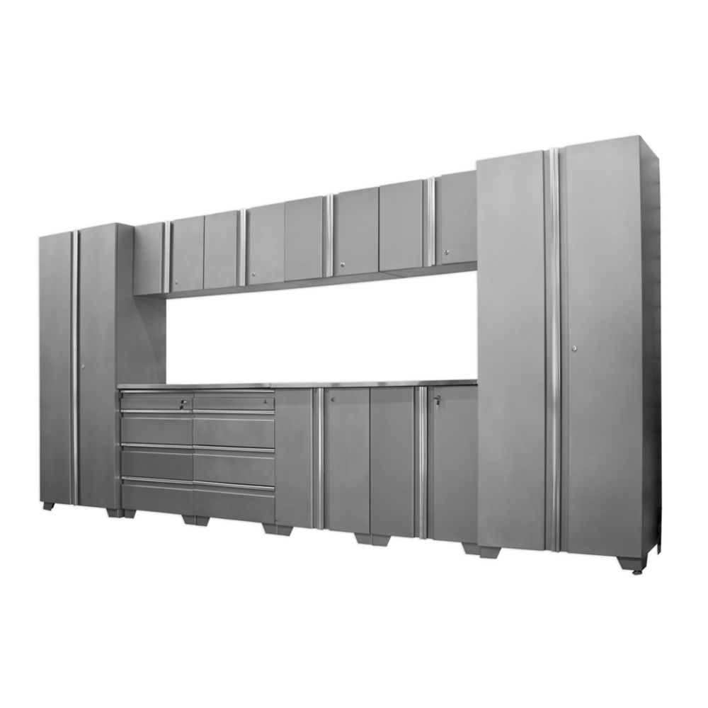 Classic Series Cabinets Silver 12 Piece
